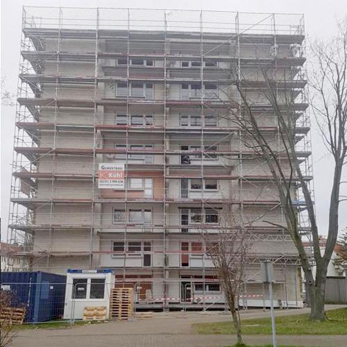 Hochhaus_Unna_Geruest_Vorne